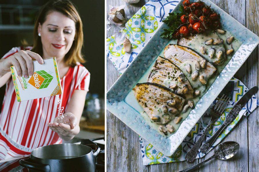 Pesce spada con crema di patate e cozze, la ricetta